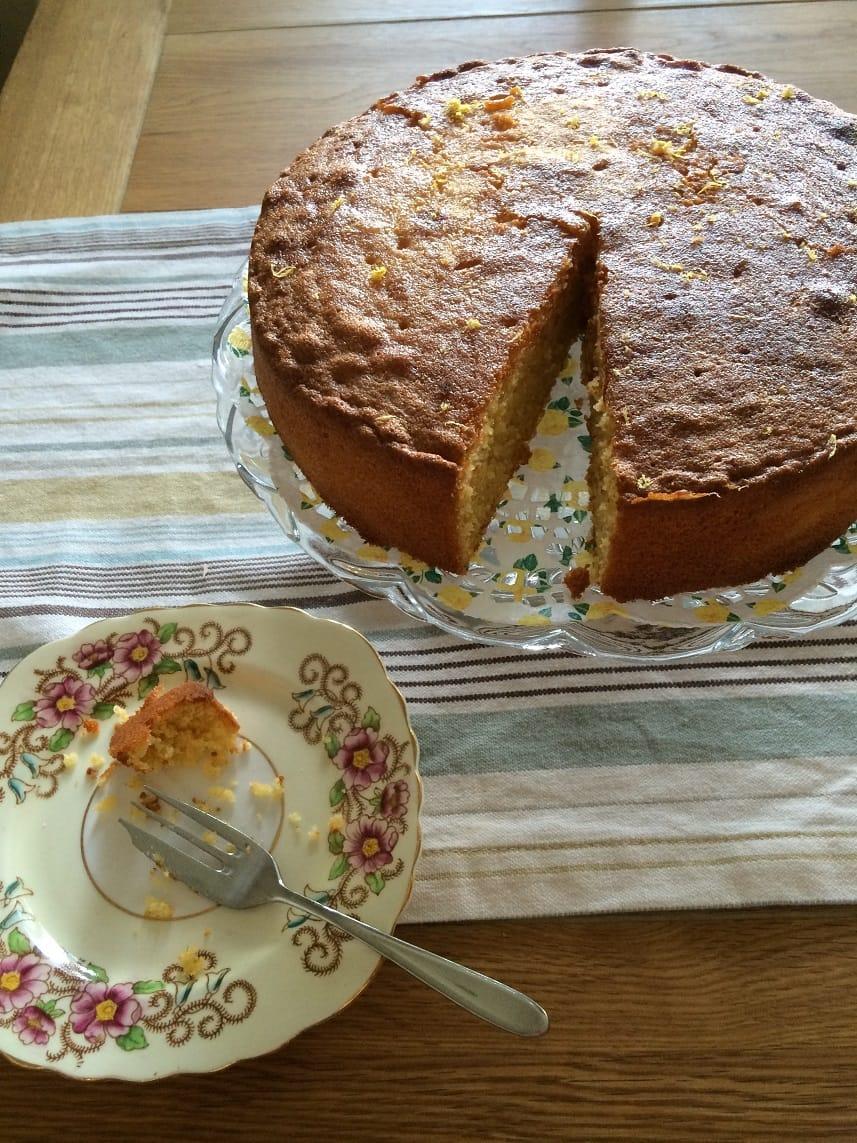 baking polenta cake 4