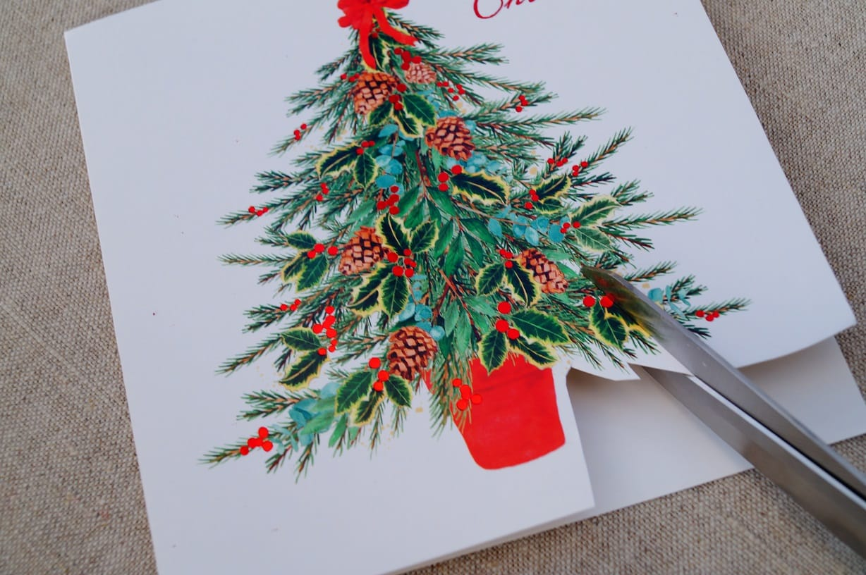 MORE PRETTY THINGS | Recycling Christmas Cards | More Pretty Things