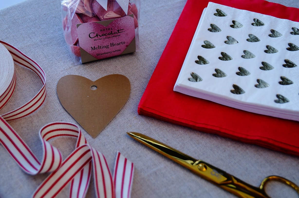 chocs and materials to wrap it