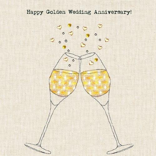 Golden Wedding Anniversary.Golden Wedding Anniversary Card